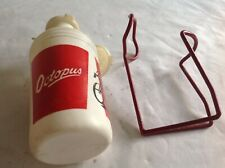 OCTOPUS VINTAGE 1960s WHITE WATER 500ml BOTTLE & RED CAGE -USED CONDITION