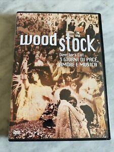 """DVD """"WOODSTOCK"""" DIRECTOR'S CUT DOCUMENTARIO MUSICALE EDIZIONE VENDITA WB ITALIA"""