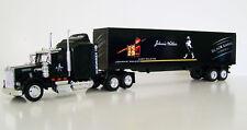 KENWORTH W900 Semi Truck Black Diecast 1:43 Scale Johnnie Walker Custom Graphics
