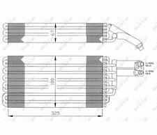 Klimaverdampfer Verdampfer Klimaanlage MERCEDES 300SL (R129) 89-  NRF