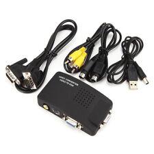 AV S-Video RCA VGA Composite Video to VGA Converter Adapter for HDTV DVD Monitor