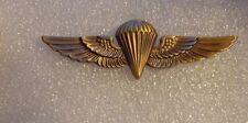 U.S.NAVY, U.S.MARINE CORPS PARACHUTE BADGE,FULL SIZE,METAL, ANTIQUE GOLD SUBDUED