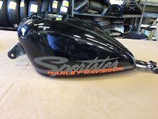 2011 Harley Davidson Sportster 1200 48 Gas Tank Fuel Tank Black No Leaks #3406