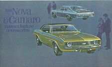 1969  CAMARO RS/SS CUSTOM FEATURE ACCESSORIES  BROCHURE