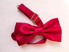 LOT OF 10 Fuchsia Pink Men's Adjustable Bowties/Bow tie Tuxedo Wedding
