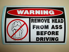 FUNNY WARNING ATV QUAD DIRTBIKE MOTORCYCLE TRUCK CAR MOPED ATC STICKER DECAL 800