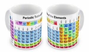 Periodic Table of the Elements Novelty Gift Mug