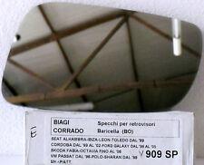 SPECCHIETTO RETROVISORE SPECCHIO VETRO PER ALAMBRA IBIZA LEON TOLEDO  909SP