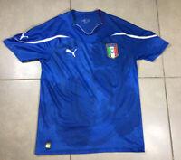 Men's 2014 Italy Home Jersey Sz M Puma Soccer Football Blue Calcio Medium