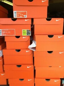 Nike Orange Empty Shoe Boxes Lot Of 32 Mens Replacement Shoes box Free Shipping
