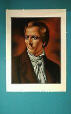 Joseph Smith Latter Day Saint Mormon Original Painting Art Black Velvet 👀 Eyes
