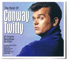 Conway Twitty-The best of..D'CD mit 50 Original Recordings/Doppel CD Neuware