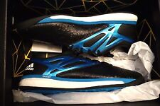 NEW Adidas Messi 15.1 Boost B24586 Black Blue Indoor Soccer Shoes MEN SIZE US 8