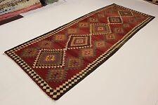 S.ancien nomades Kelim pièce unique PERSAN TAPIS tapis d'Orient 4,32 x 1,68