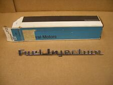 Vintage Genuine Gm NOS Chevy  Chevrolet Fuel Injection Emblem # 3742212