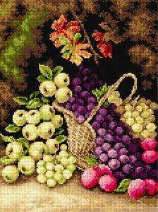 """""""Still Life wit Apples"""" Printed Canvas or Threads Kit for Needlepoint 2671"""