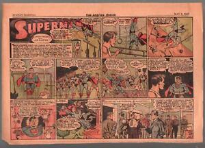 Superman Newspaper Comic Strip-Los Angeles Times-5/2/1943-WWII era-VG