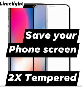 2 X I Phone Tempered Glass Screen Protector for iPhone 11 Pro Max XR X Max,6,7,8