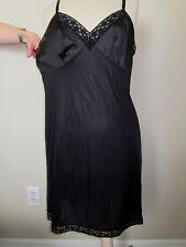 Vintage Black Slip Gown  Nylon   size 40  original condition