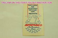 Ammaco TONY Doyle CHAMPIONS scelta bicicletta da corsa 80's trasferimento, Decalcomania, Adesivo