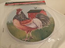 Cooking Concepts Burner Cover Set 2 pcs Rooster NWT