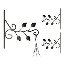 3er Set Blumenhaken mit Blatt-Motiv Wandhaken für Blumenampeln Blumenhalterung