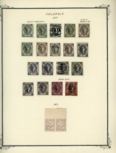 COLOMBIA Scott Specialty Album Page Lot #7 - SEE SCAN - $$$