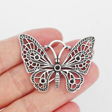 8x Tibetan Silver Butterfly Charms Pendant For Jewelry Necklace Making Findings