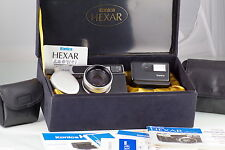 AMAZING CLASSIC POINT AND SHOT KONICA HEXAR AF SILVER COLLECTOR'S SET AS NEW BOX
