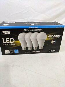 4-Pack LED 17.5 watt 100 watt replacement Enhance Natural Light Bulbs Daylight