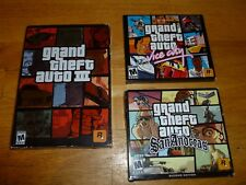 Grand Theft Auto III PC--San Andreas--Vice City--All 3 New in Factory Sealed Box