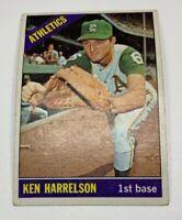 1966 Topps # 55 Ken Harrelson Baseball Card Kansas City Athletics KC A's