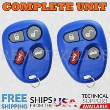 2 for 2001 2002 2003 2004 2005 Chevrolet Malibu Keyless Entry Remote Key Blue