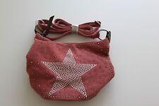 Bolso de bandolera Lienzo m Cristales Estrella Light Rojo vom Hof BA G6355-70