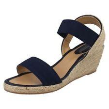 Scarpe da donna elasticizzato blu con tacco medio (3,9-7 cm)