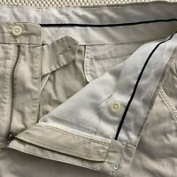 "Polo Ralph Lauren 36 x 10.5"" Stone Flat Front Twill 5 Pocket Chino Shorts"