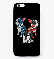 4th Of July Boston Terrier Lover Gift Phone Case iPhone