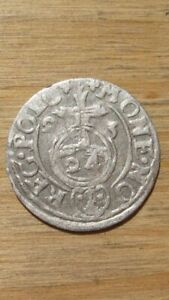 Antique Required Valuable Lithuanian Silver Coin Zygimantas III Vaza (#2), 1623.