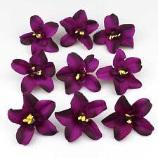Deep purple Decorative Flowers Artificial Silk Flowers Bulk Orchid Flower Heads