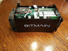 Used Bitmain Antminer S5 1155 Gh/s Bitcoin BTC ASIC Miner w/ Extra Fan (no PSU)