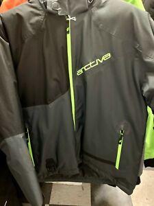 New Men's Arctiva S8 Pivot Jacket ~ Black/ Green~ XL ~ # 3120-2025