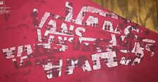 2XL Red Vans TShirt Off The Wall Amazing Art Paint Splatter Vans Logo Shoulder