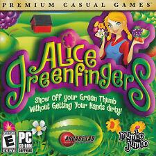 ALICE GREENFINGERS Green Finger Plant Garden Simulation for Windows NEW CD