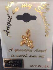 GUARDIAN ANGEL Pin November Topaz Birthstone Jewelry Tie Hat Tack Lapel Pinback