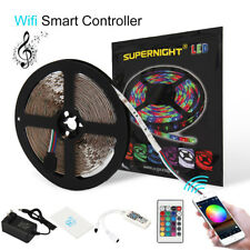 SUPERNIGHT® 5M Kit 3528 RGB 300 LED Strip Light Waterproof+WIFI Remote+DC Power