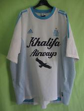 Maillot Olympique Marseille Khalifa Airways 2002 OM Adidas Vintage Jersey - XL
