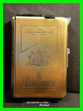 Vintage Foreign European Metal Marlboro Cigarette Case And Lighter ~ Unique!