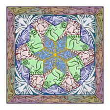 © ART - Tessellation shape Tree Frog Mandala Animal Original Artist Print Di