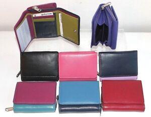 Small Golunski Compact Leather Tri Fold Wallet Purse Various colours RFID