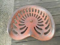 Vintage Cast Iron Tractor implement 1 hole mount seat pan RARE HARD TO FIND